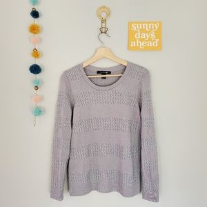 F21 Hint of Silver Sweater